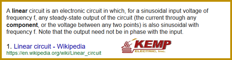 linear circuit - kemp electric Warsaw electrician indiana kosciusko